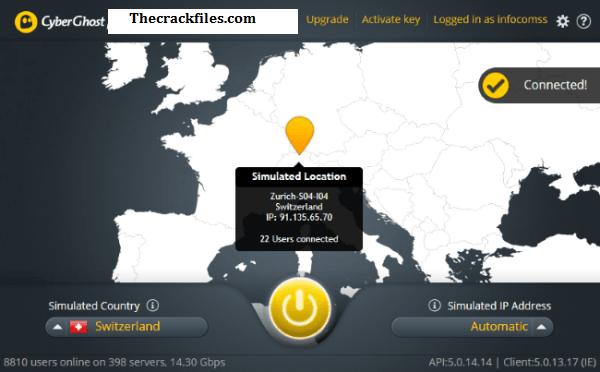 CyberGhost VPN Crack 8.2.5.7817 + Activation Code Download