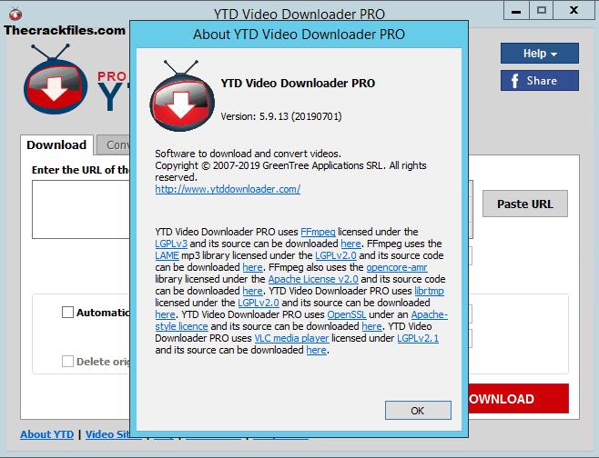 YTD Video Downloader Pro Crack 7.12.1 + License Key Download