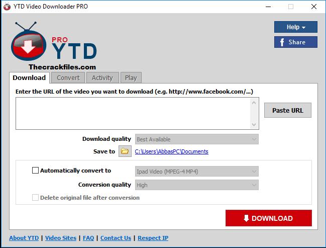 YTD Video Downloader Pro Crack 7.12.1+ License Key Download