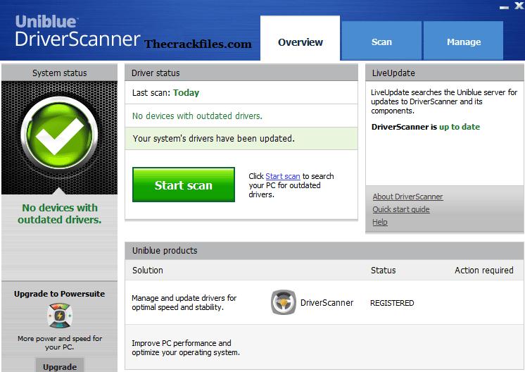 Uniblue DriverScanner Crack 4.2.1.0 + Serial Key Download