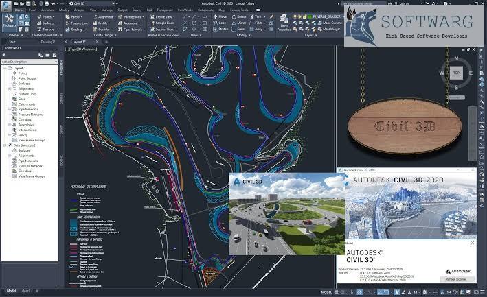 AutoDesk Civil 3D Crack 2022.0.2 + Keygen Key Free Download