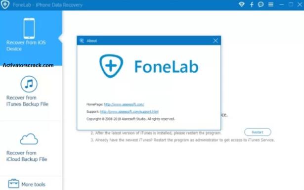 Aiseesoft FoneLab Crack 10.3.12+Serial Keygen Free Download